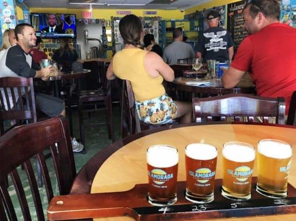 Tasting room at Islamorada Brewing Company (Photo: Bonnie Gross)