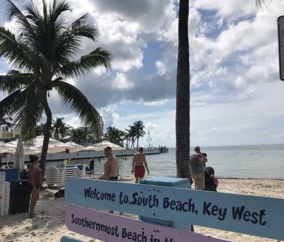 South Beach at Key West, located where Duval Street meets the Atlantic. (Photo: Bonnie Gross)