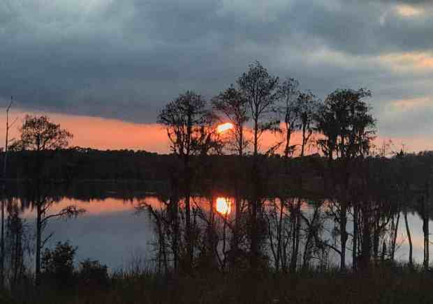 Evening view over Dixie Lake at Lake Louisa State Park in Clermont. (Photo: Bonnie Gross)