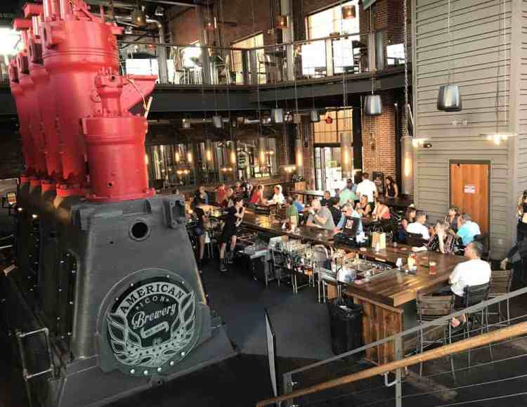 American Icon Brewery in Vero Beach: , The large building was the 1926 Vero Beach Municipal Power Plant and one of the original diesel engines is the centerpiece of the restaurant. ({Photo: Bonnie Gross)
