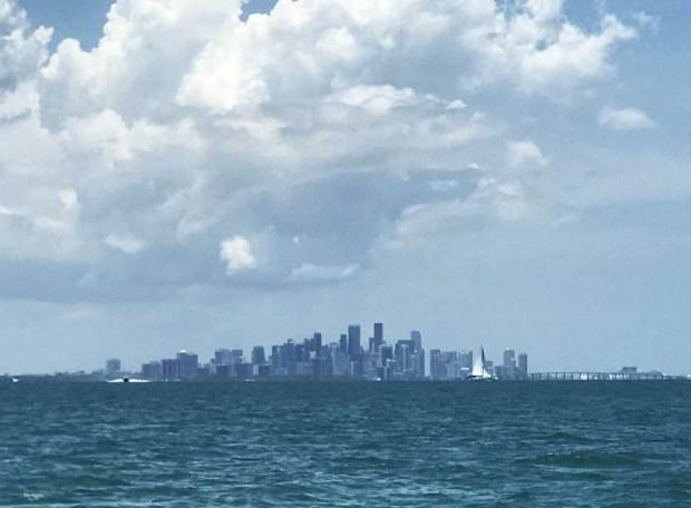 The Miami skyline from Stiltsville. (Photo: Bonnie Gross)