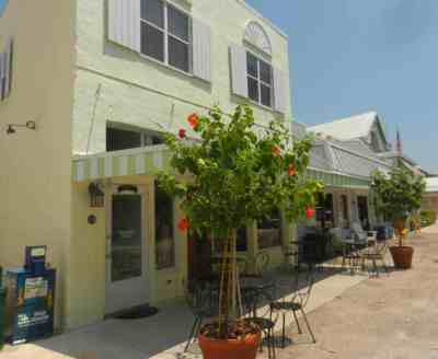 Historic downtown of Boca Grande, a Gulf Coast Florida island.