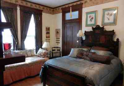 A bedroom in the Herlong Mansion,