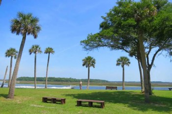 The Kingsley Plantation has a sweeping view of the river.