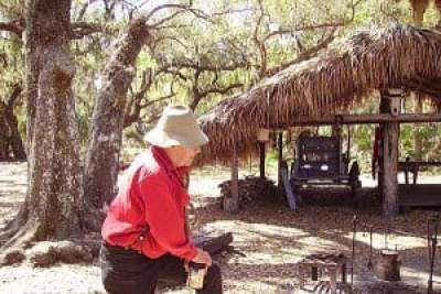Lake Kissimmee State Park historic re-enactor at Cow Camp