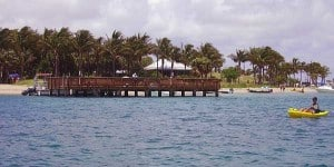 The dock at Peanut Island, Palm Beach, Florida