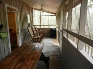 Blue Spring cabins have big screened porches.