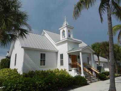 The oldest church on Boca Grande, a Gulf Coast Florida island.