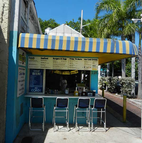 The Conch Shack on Duval in Key West is a tiny bargain-priced spot for authentic food.