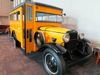 Kids love to romp on the vintage school bus at the Elliott Museum on Hutchinson Island near Stuart