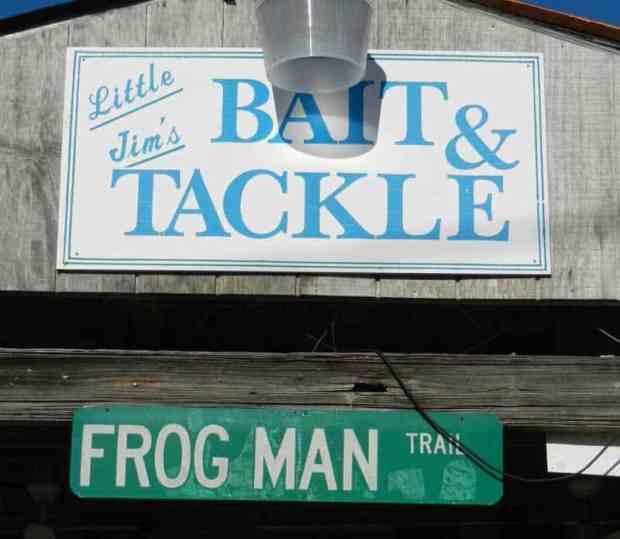 Little Jim's Bait & Tackle sign