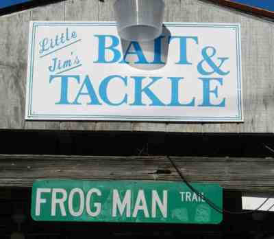 Little Jim's Bait & Tackle sign