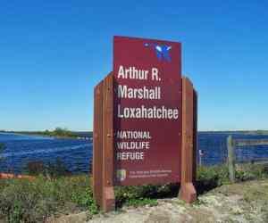Entrance to the Loxahatchee National Wildlife Refuge