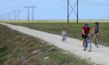 The bike trail at Markham Park in Sunrise is a safe spot for family biking.