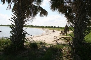 Beach at the inlet in Sebastian Inlet State Park