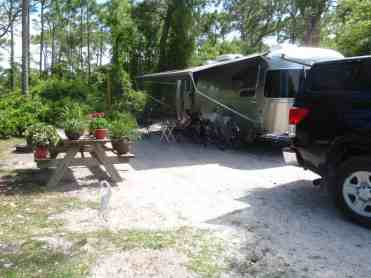 Campsite at St. George Island State Park
