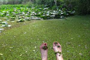 Tired feet in Patrick Creek