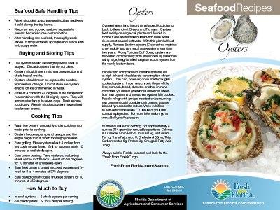 Oysters Recipe Brochure