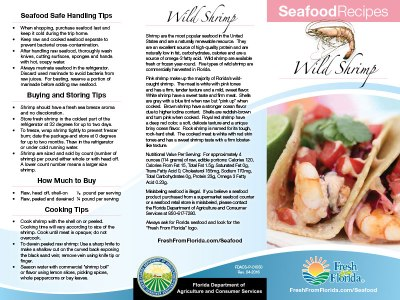 Shrimp Recipe Brochure