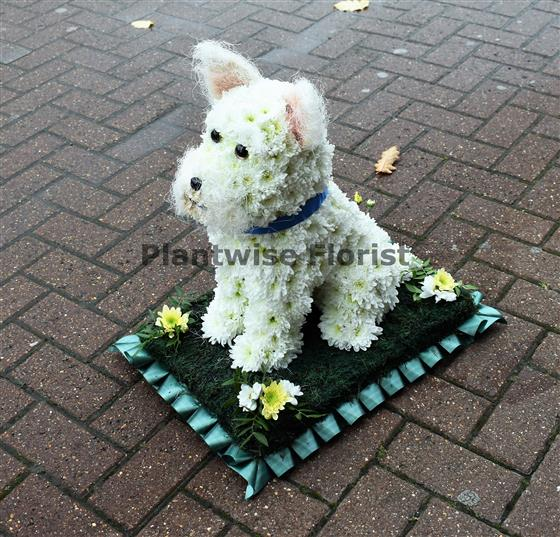 West Highland Terrier Dog Funeral Flower Wreath Funeral Flowers