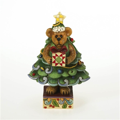 Bear In Christmas Tree Boyds Figurine 4015159 Flossie