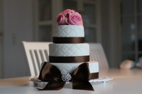 romantisk bryllupskage