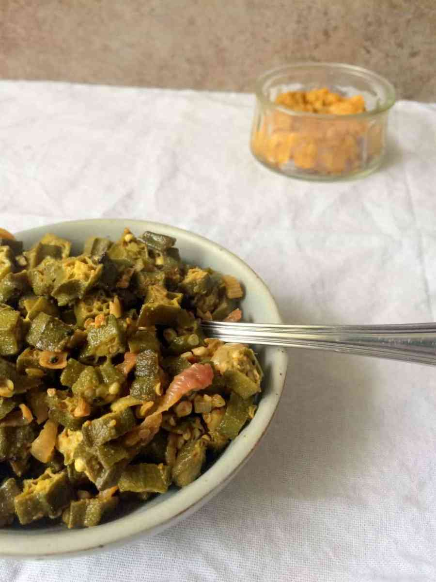 Achari Bhindi or Okra in Pickling Spices