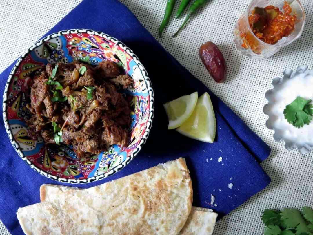 Spicy Shredded Beef or Bhuna Gosht
