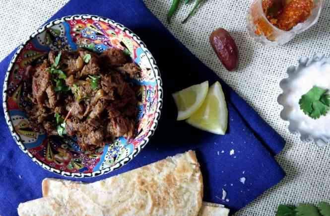 Spicy Shredded Beef or Bhuna Gosht