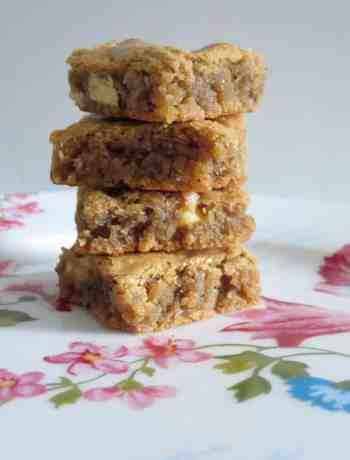 White Chocolate Chip and Coffee Blondies