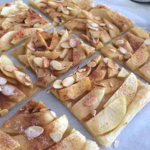 Apple Tart cut into squares