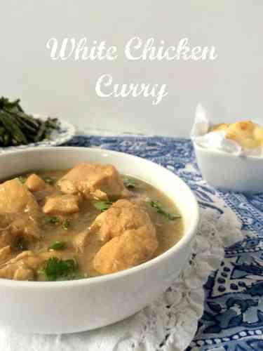 white chicken curry