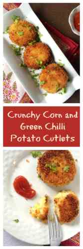 Corn and Potato Cutlets