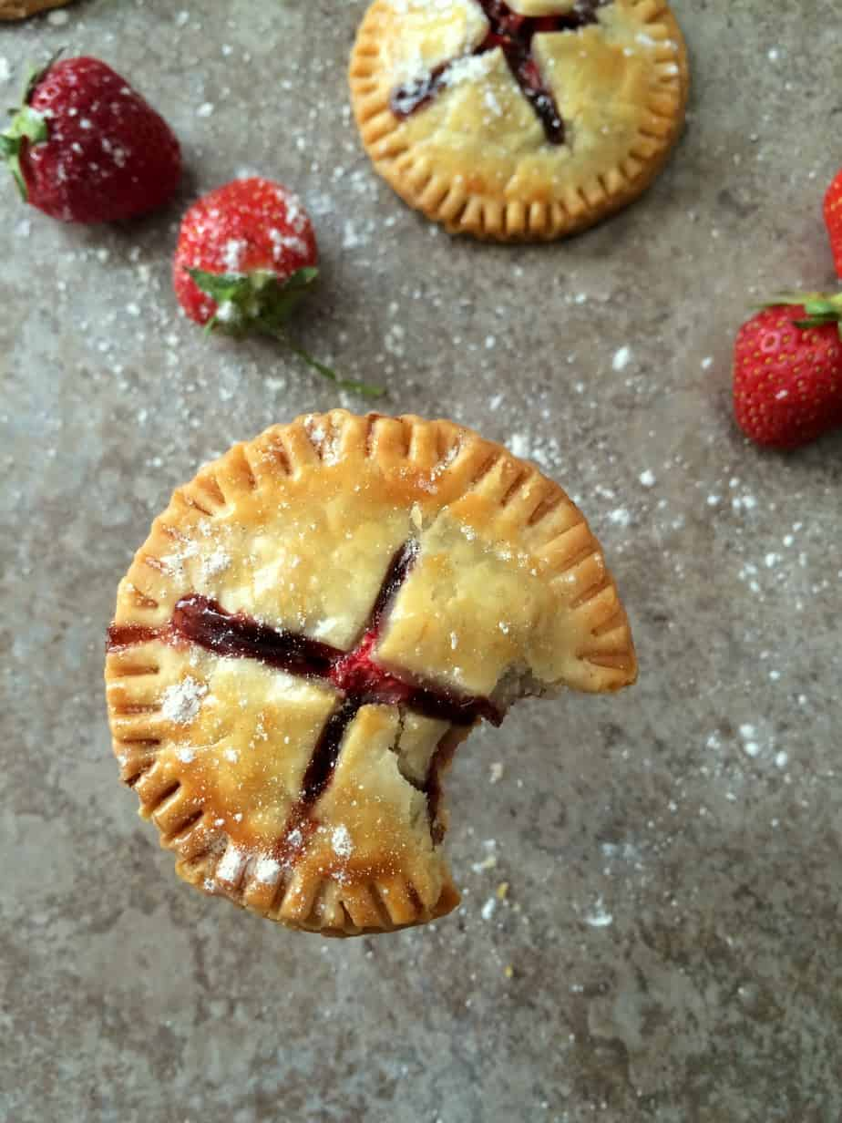 strawberry nutella hand pies