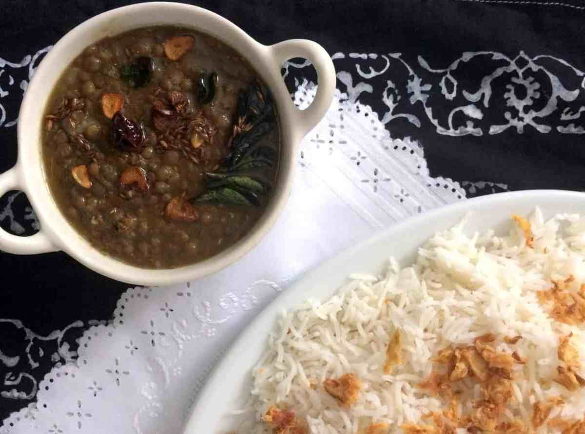 Kaali Sabut Masoor ki Daal or Brown Lentils