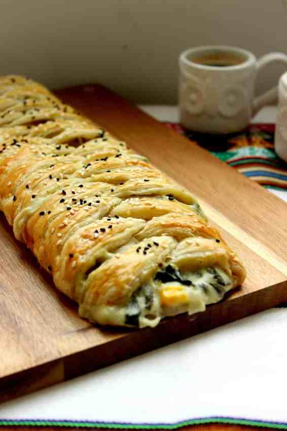 spinach puff pastry braid