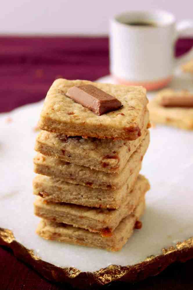 Coffee Toffee Lindt Shortbread Cookies