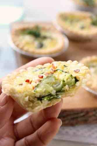 Mini Asparagus and Zucchini Quiche