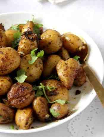Smashed Chilli Potatoes