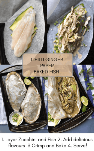 Chilli and Ginger Paper Baked Fish