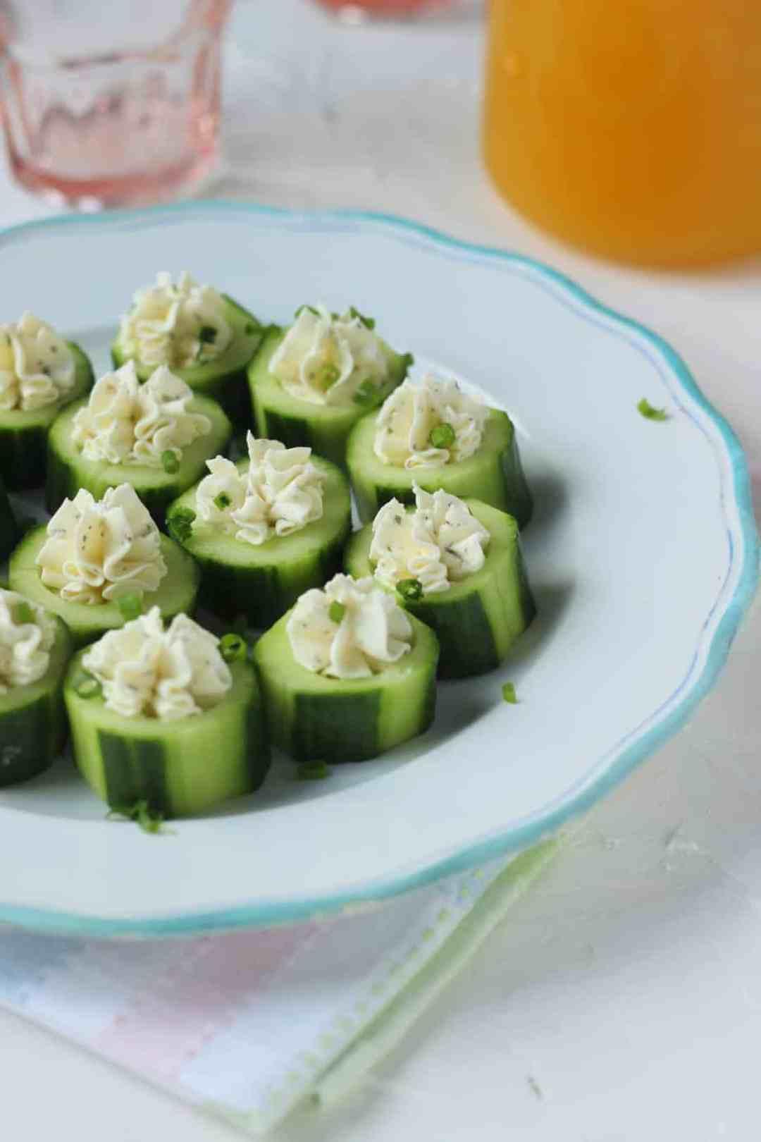 Cucumber Cream Cheese Rounds