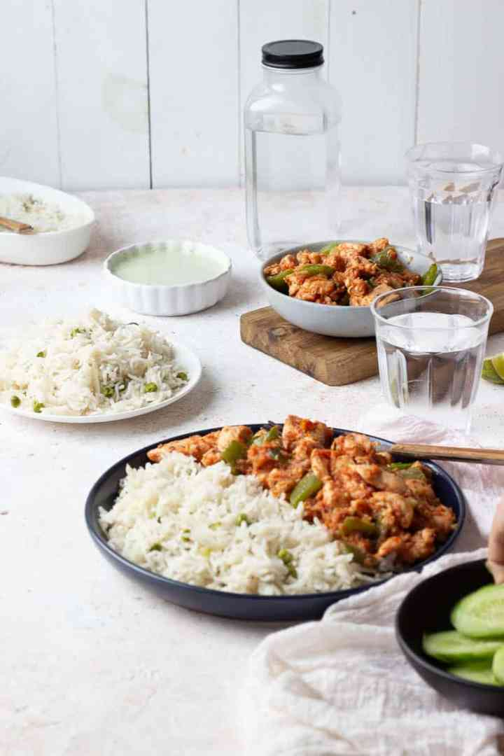 Easy Chicken Jalfrezi Recipe With Video Pakistani Flour Spice