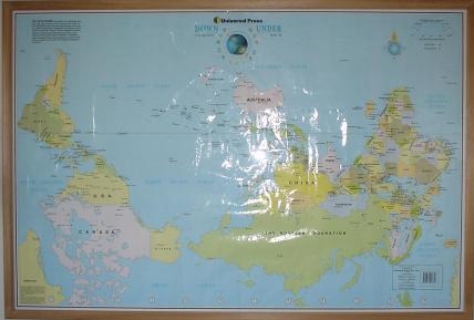 The Upsidedown Map Page   Francis Irving Rotated and Upsidedown World Map