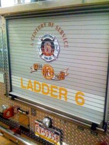 Logo on Ladder 6 Flourtown Fire Company