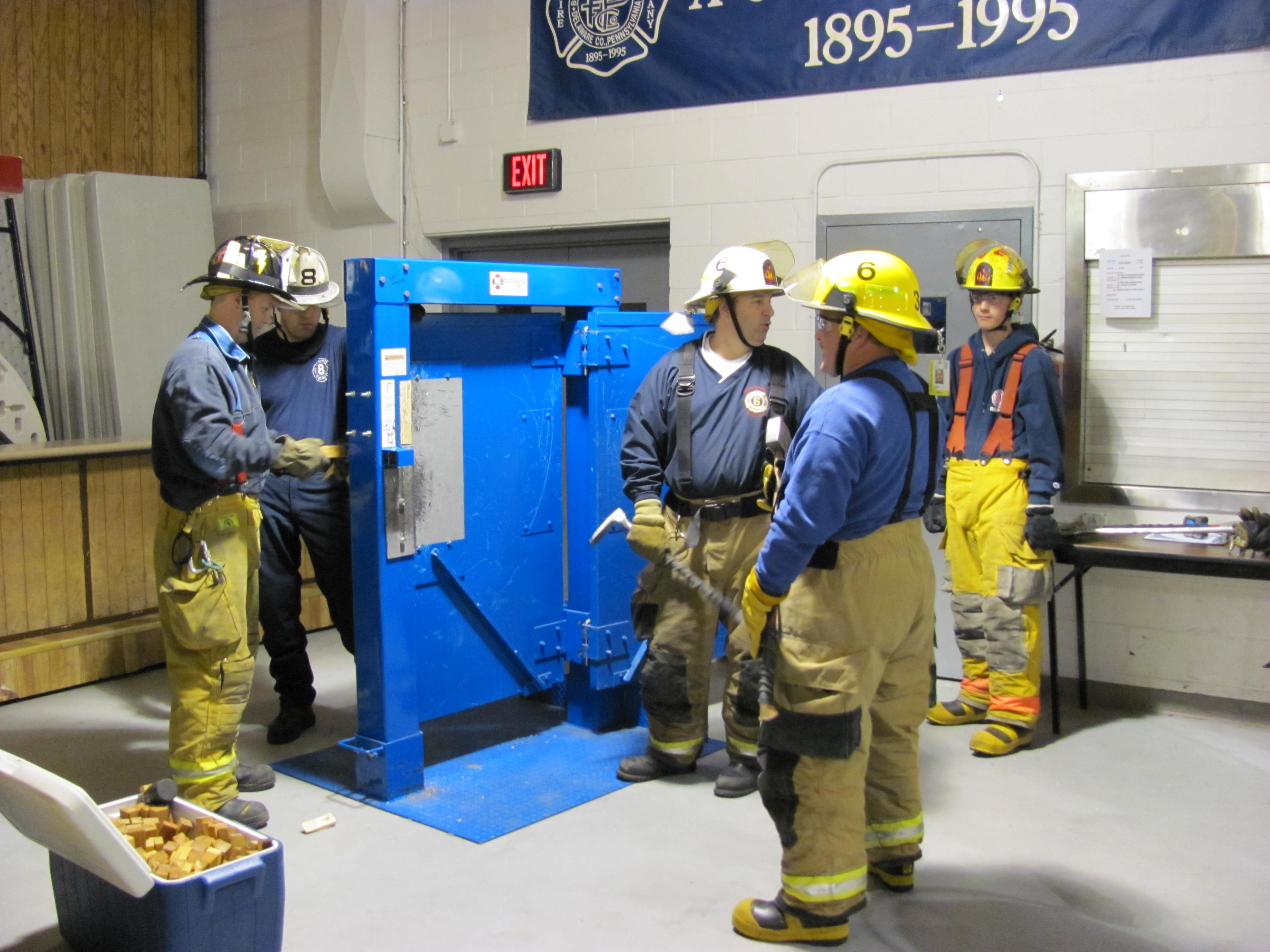 Forcible Entry Training Prospect Park Fire Co