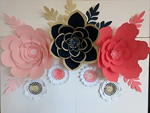 Nautical paper flowers for backdrops includes 7 paper flowers and nautical paper flowers mightylinksfo Images