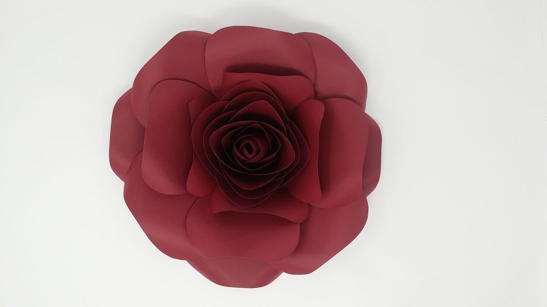 Roses paper flowers for backdrops includes 12 paper flowers and 8 roses paper flowers mightylinksfo