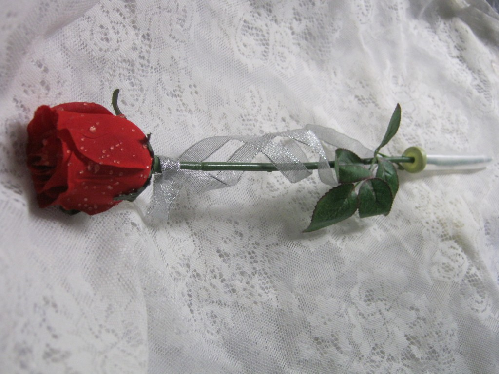 Single Stem Rose In Cello Wrap