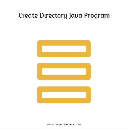 create directory java program