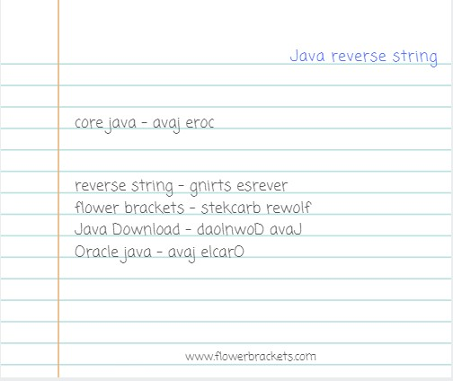 reverse a string in java